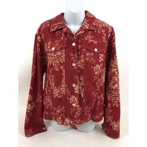 Monterey Bay Tops - Monterey Bay Clothing Company Red Floral Shirt